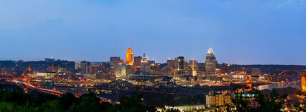 Cincinnati skyline panorama. Royalty Free Stock Photos