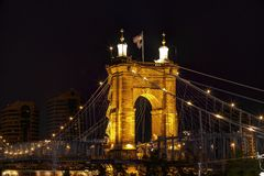 Cincinnati stary most Obrazy Royalty Free