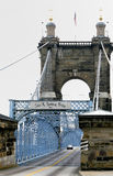 John A. Roebling suspension bridge Royalty Free Stock Images