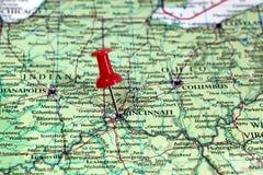 Cincinnati in U.S.A. Fotografia Stock Libera da Diritti