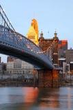 Cincinnati van de binnenstad, Ohio. stock foto's