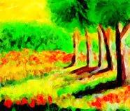 Cinco árvores Imagens de Stock