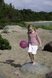 Cinco años de la muchacha Foto de archivo