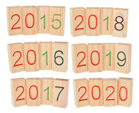 Cinco años en el futuro a partir de 2015 a 2020 Fotos de archivo