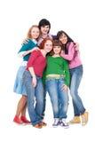 Cinco amigos felices y brillantes Foto de archivo