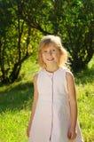 Cinco anos de menina idosa Imagens de Stock Royalty Free