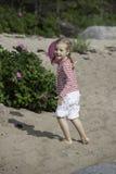 Cinco anos de menina idosa Imagem de Stock Royalty Free
