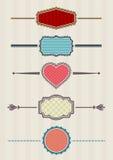 Emblemas atados ilustração royalty free