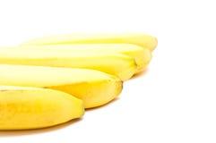Cinco bananas isolaram-se Fotografia de Stock Royalty Free