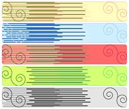 Cinco bandeiras abstratas Foto de Stock Royalty Free