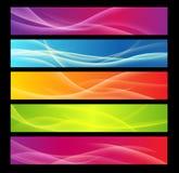 Cinco bandeiras coloridas Fotos de Stock