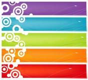 Cinco bandeiras coloridas Fotografia de Stock