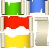 Cinco bandeiras da cor Fotos de Stock Royalty Free