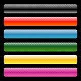 Cinco banderas coloridas del Web Ilustración del Vector