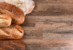 Cinco barras de pan Foto de archivo