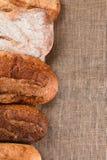 Cinco barras de pan Imagen de archivo libre de regalías