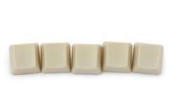 Cinco botões vazios do computador Fotos de Stock