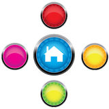 Cinco botones para el Web (vector) Foto de archivo libre de regalías