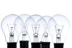 Cinco bulbos eléctricos Foto de archivo libre de regalías