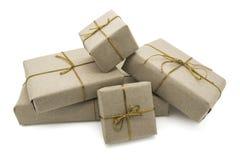 Cinco caixas de presente Imagens de Stock Royalty Free