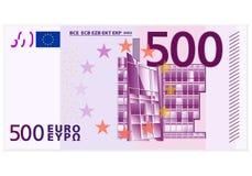Cinco cem cédulas do euro ilustração stock