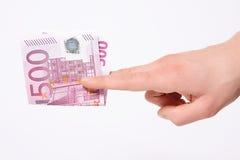 Cinco cem euro Foto de Stock Royalty Free