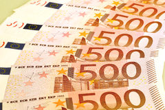 Cinco cem euro- cédulas Fotografia de Stock
