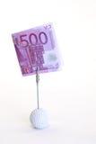 Cinco cem notas de banco do euro Foto de Stock Royalty Free