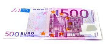 Cinco cem notas de banco do euro Imagens de Stock Royalty Free