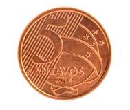 Cinco centavos Foto de Stock