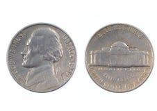 Cinco centavos EUA 1962 Imagem de Stock Royalty Free