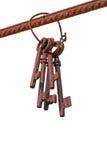 Cinco chaves oxidadas Fotos de Stock Royalty Free