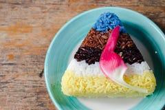Cinco colores del arroz Imágenes de archivo libres de regalías