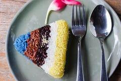 Cinco colores del arroz Foto de archivo