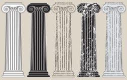 Cinco columnas Imagenes de archivo