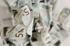 Cinco contas dos euro Fotos de Stock