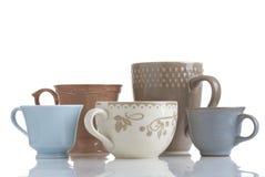 Cinco copos de café Foto de Stock
