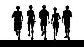 Cinco corredores stock de ilustración