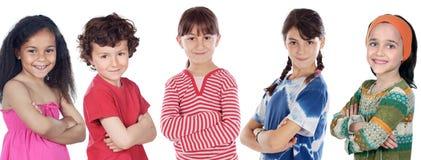Cinco crianças dos adorables Fotos de Stock Royalty Free