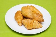 Cinco croissants Imagens de Stock