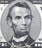 Cinco dólares Abraham Foto de archivo libre de regalías