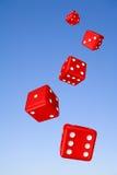 Dados e céu de caída Foto de Stock Royalty Free