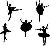 Cinco dançarinos de bailado ilustração royalty free