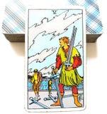 5 cinco de la carta de tarot de las espadas Fotografía de archivo libre de regalías