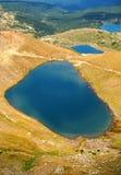 Cinco de los siete lagos mountain de Rila Fotos de archivo