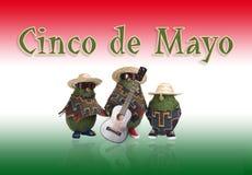 cinco de mayo αβοκάντο διανυσματική απεικόνιση