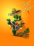 cinco de mayo εορτασμού Διακοπές του Μεξικού ελεύθερη απεικόνιση δικαιώματος