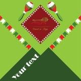 Cinco de Mayo, μεξικάνικη γιορτή, αφίσα διακοπών, έμβλημα, ευχετήρια κάρτα Απεικόνιση αποθεμάτων