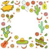 Cinco De Mayo, карточка праздника вектор Стоковые Фотографии RF