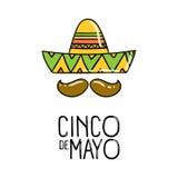 Cinco De Mayo, плакат праздника вектор Стоковые Фото